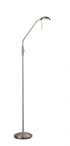 LED Floor Lamp Satin Chrome LXARM4946-17